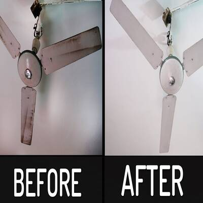 HOW TO CLEAN GREASY CEILING FAN