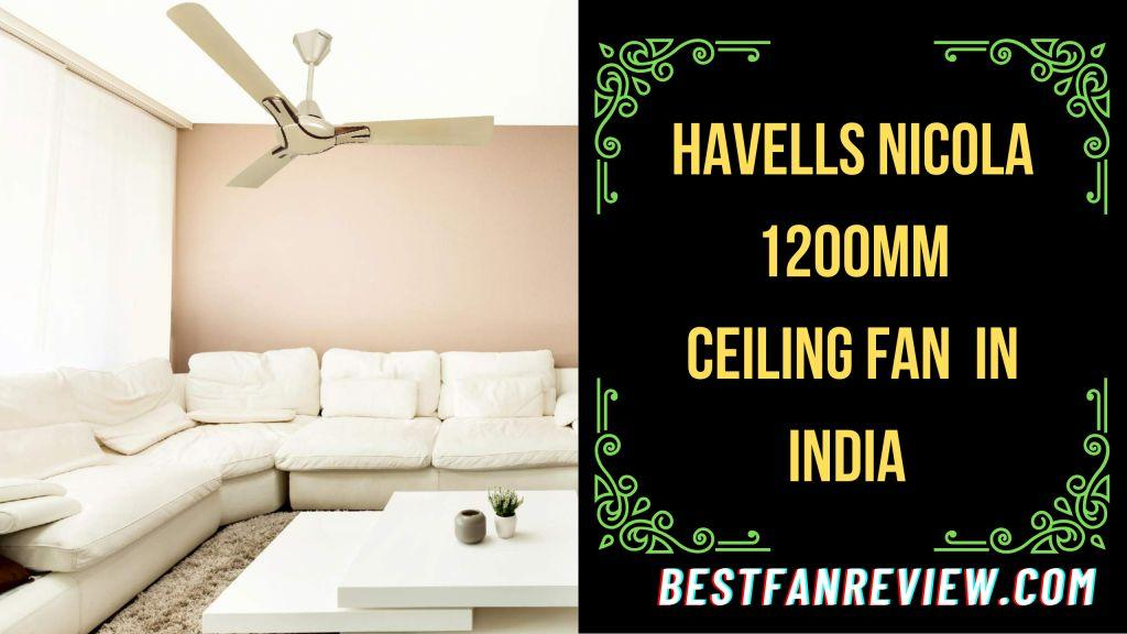 Havells Nicola 1200mm Ceiling Fan (Gold Mist and Copper)