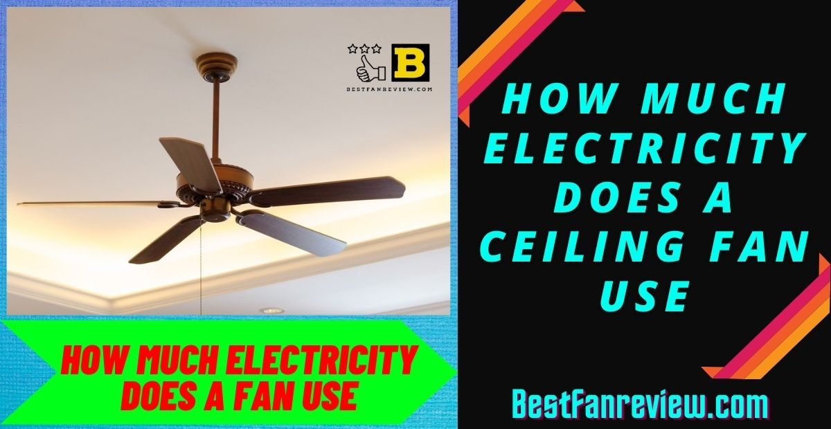 How much electricity does a ceiling fan