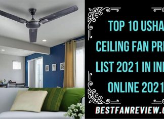Usha Ceiling Fan Price List 2021